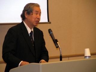 基調講演中の稲垣明男氏