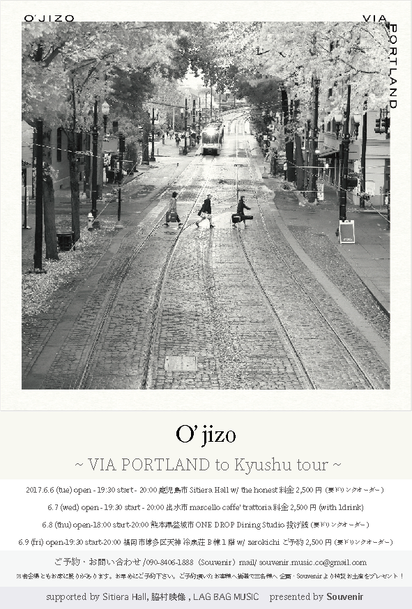 O'Jizo Live 20170608 in Kumamoto Flyer